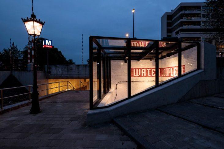 Lichtontwerp Metro Oostlijn Amsterdam door Beersnielsen lichtontwerpers