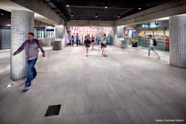 Lichtplan Metrostation Centraal Station Amsterdam door Beersnielsen lichtontwerpers
