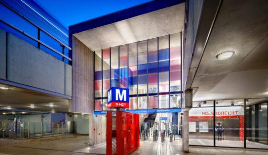 Lichtplan Metrostation Holendrecht Amsterdam door Beersnielsen lichtontwerpers