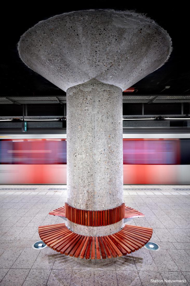 Lichtplan Metrostation Nieuwmarkt Amsterdam door Beersnielsen lichtontwerpers