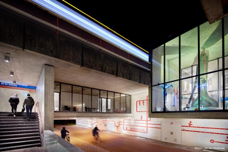 Lichtplan Metrostation Van der Madeweg Amsterdam door Beersnielsen lichtontwerpers