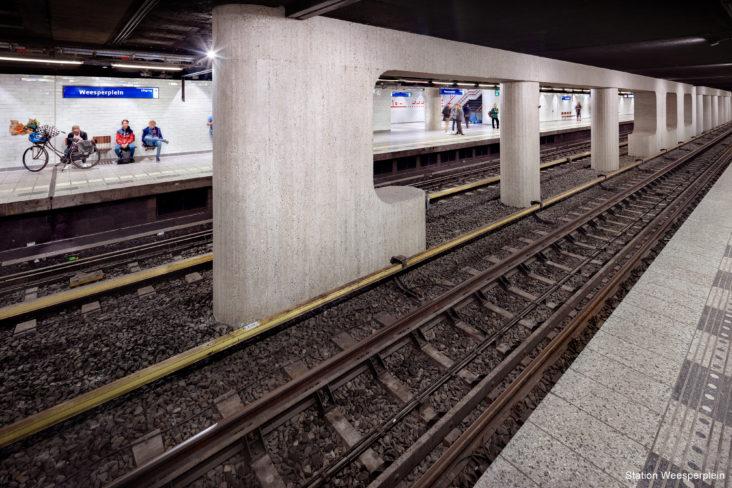 Lichtplan Metrostation Waterlooplein Amsterdam door Beersnielsen lichtontwerpers