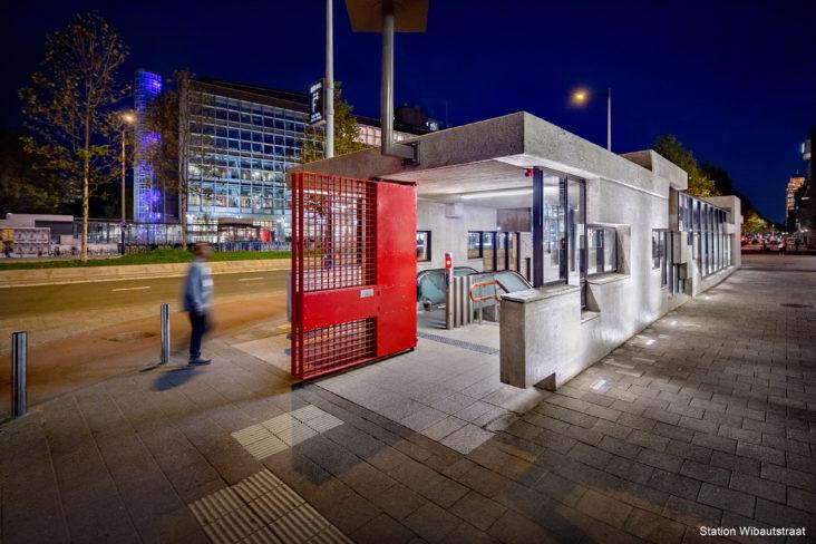 Lichtplan Metrostation Wibautstraat Amsterdam door Beersnielsen lichtontwerpers