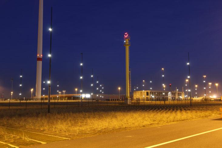 Beersnielsen lighting design harbour/lock antwerp