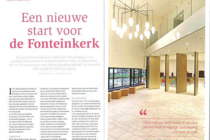 Lichtontwerp Fonteinkerk Rotterdam door Beersnielsen lichtontwerpers
