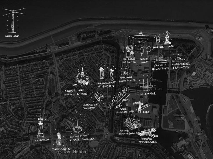 Beersnielsen lichtkansenkaart Den Helder