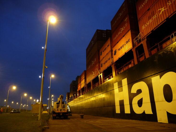 Lichtontwerp Sluis Antwerpen door Beersnielsen