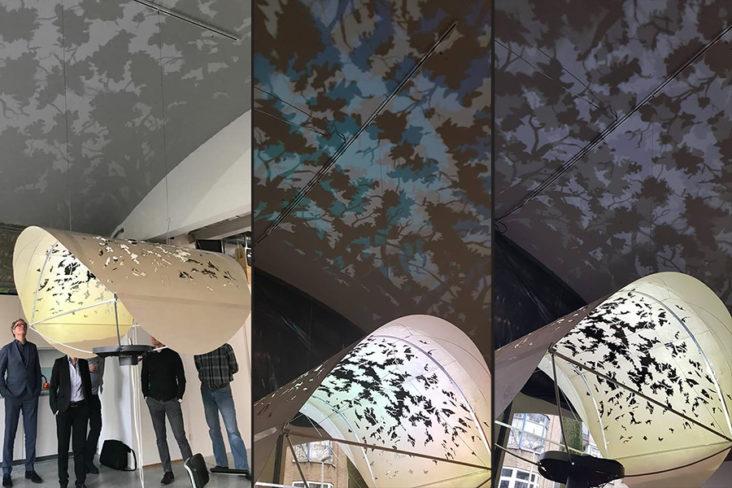 Chandelier for bezoekerscentrum hoge veluwe designed by Beersnielsen lichtontwerpers