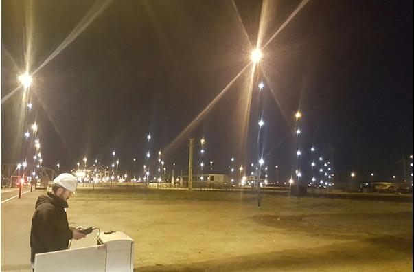 Beersnielsen testing lighting design in port of Antwerp
