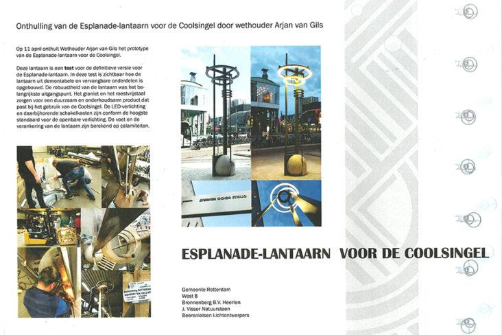 Beersnielsen esplanade lantaarn Coolsingel Rotterdam