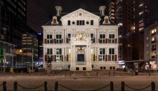 Lichtontwerp Schielandshuis Rotterdam door Beersnielsen Lichtontwerpers